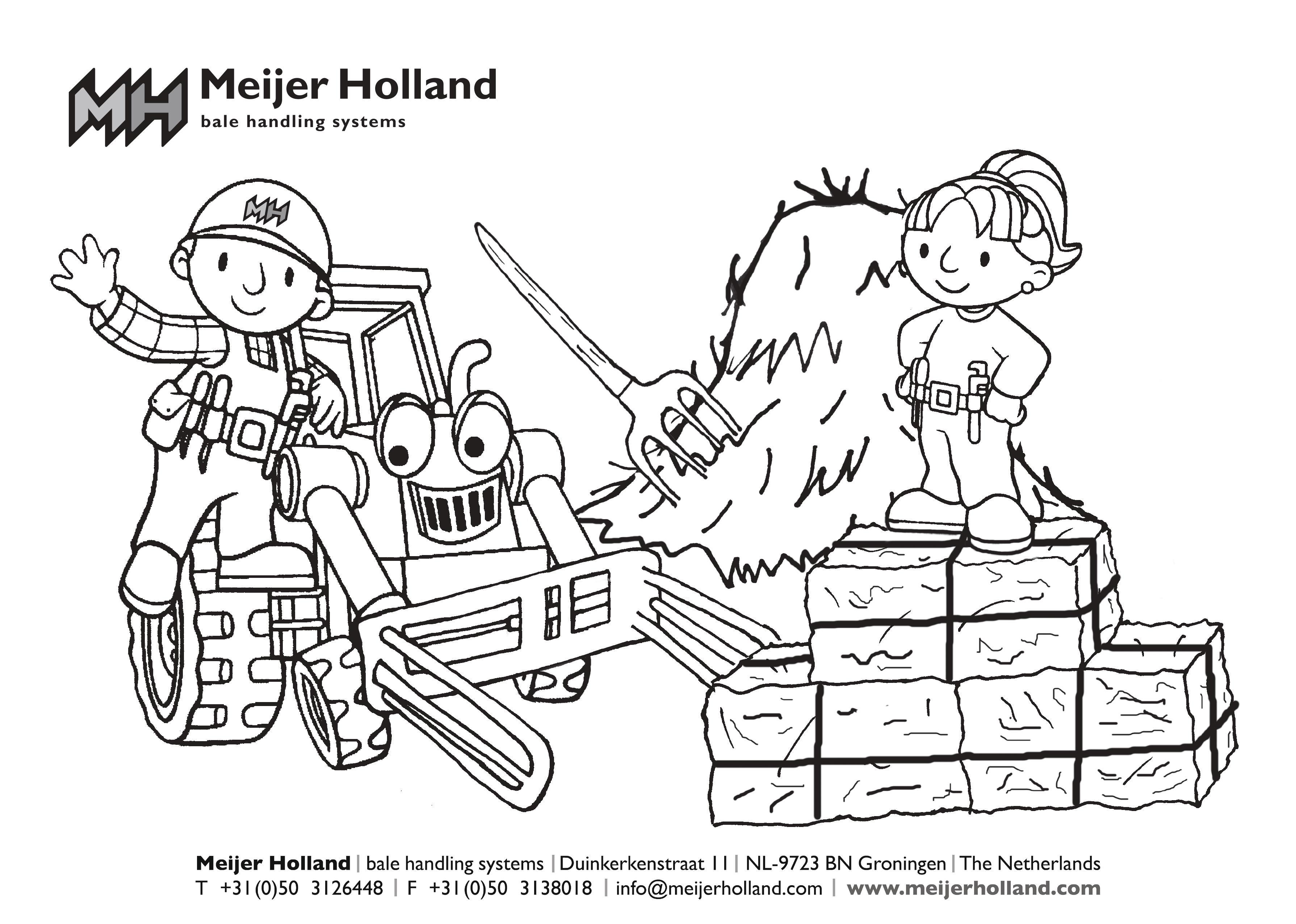Download en print Meijer Holland kleurplaat
